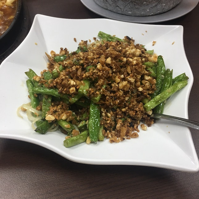 French Bean With Dried Shrimp