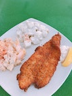 Crispy Fish With 2 Sides