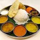 Cute and appetizing Vegetarian Indian cuisine.
