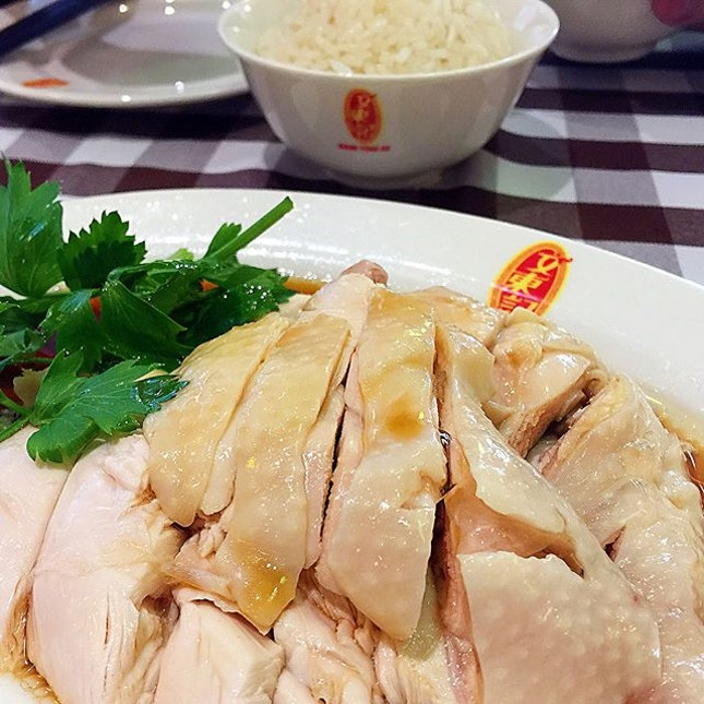 The famous chicken rice restaurant in Singapore.
