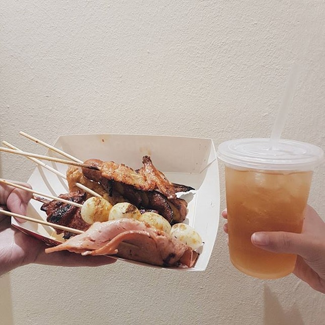 🇲🇾 Kimdo BBQ 📍 J3-19B, Lvl 3, Johor Bahru City Square ⚊ Most of these sticks were marinated with the same marinate so it may be too much if you have too many sticks at once.
