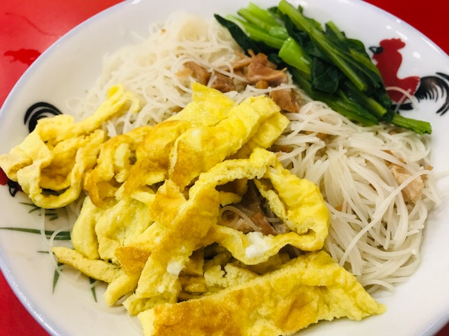 White Bee Hoon With Braised Pork