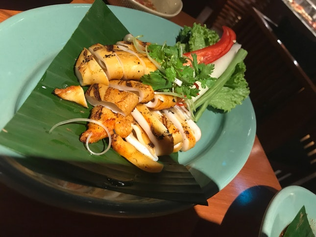 Grilled Squid In Thai Sauce
