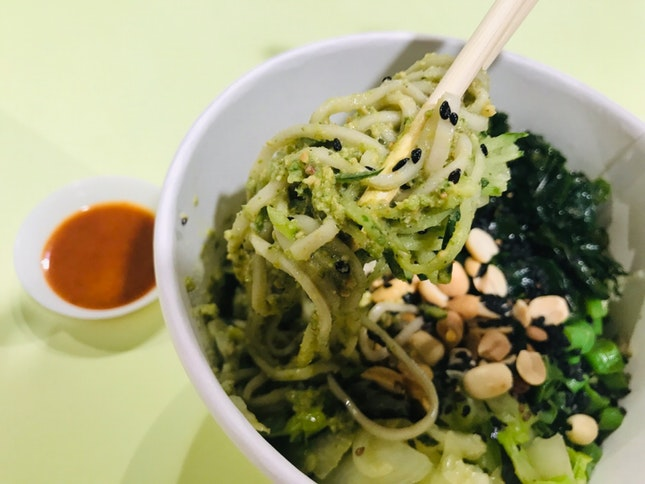 "Lei Cha ""Pesto"" Cold Noodles 😱"
