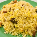 Fried Rice With Salted Eggs And Char Siew