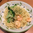 Aglio Olio Shrimp & Broccoli