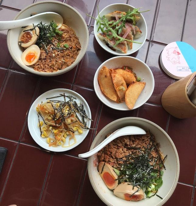 Lunch Deal: 1 Egg Noodles (1 Complimentary Egg) + Dumplings + Iced Drink