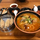 Jjambbong (Extra Spicy Seafood Soup) Set