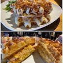 Turkey Ham & Cheese Grilled Waffle Sandwich