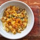 Chicken mushroom mac and cheese