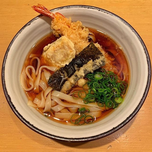 Currently missing this bowl of tempura kishimen from Ekimama Kishimen.