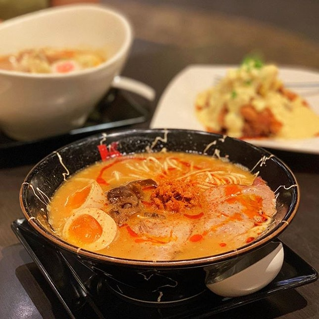 @ramen_keisuke's spicy miso ramen and their chicken nanban is my kind of comfort food 😋 I come here often enough to know what I want to order without looking at the menu 😆