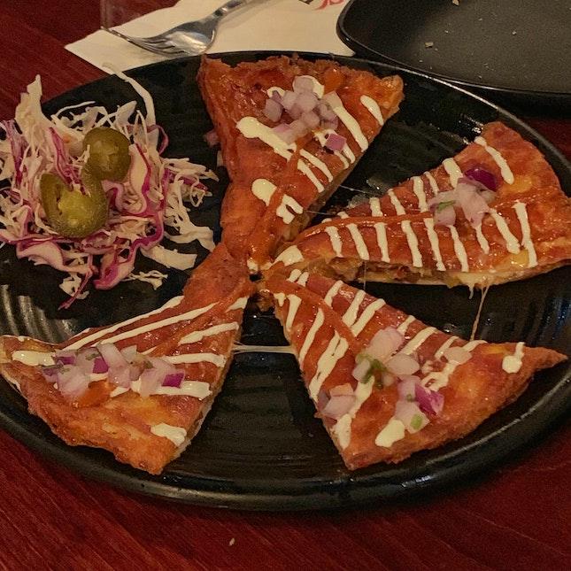 Kimchi Pork Quesadillas ($18)