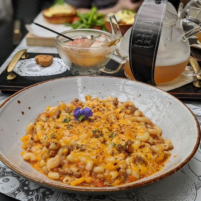 Wayfarer's Picnic: Macaroni Beef Bolognese ($16)