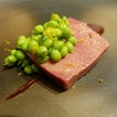 [Gallery Vask] Mole, beef tongue, peas and citrus.