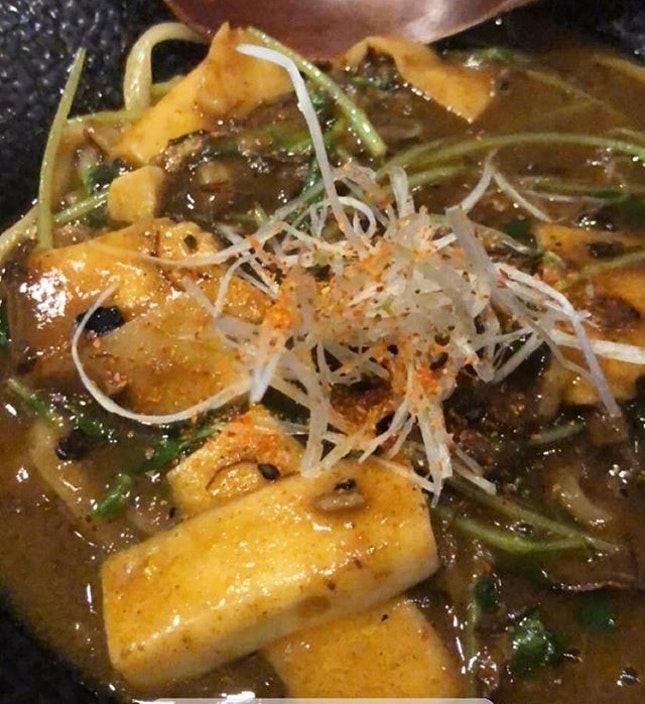 This was not part of the Omakase but because my friends wanted to try the wagyu curry udon, Chef Koki-San was kind enough to replace our rice or udon course with this.