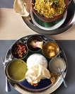 I can eat the vegetarian thalis here daily.