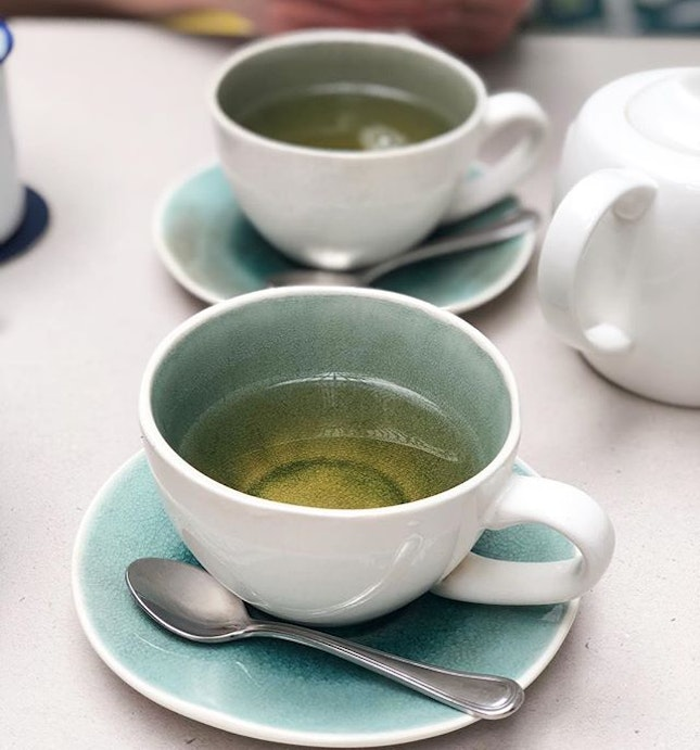 Green tea with hints of rose.