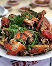 3kgs of crabs, pre-ordered and cooked in their signature white pepper.