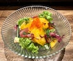 Japanese persimmons were a delightful addition to our salads yesterday.