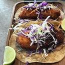 Baja tacos for mains.
