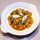 This gnochetti sardi in red pesto is a must order.