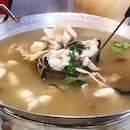 Herbal bullfrog soup.