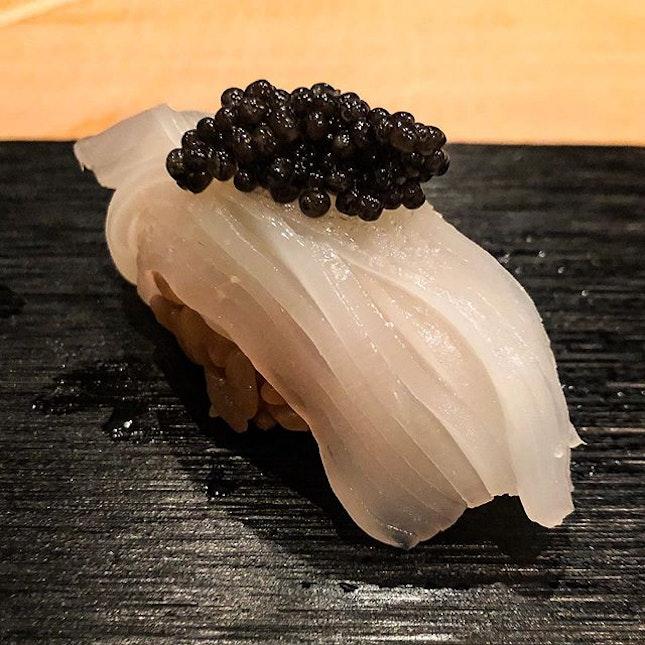 Shin ika with Setouchi caviar, oishii!