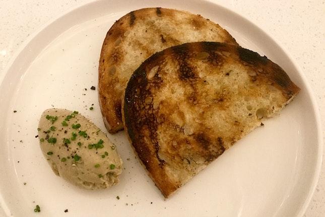 Foie gras mousse toast  $12