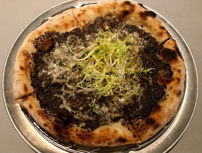 Black Truffle and Fontina Cheese Pizza  $26