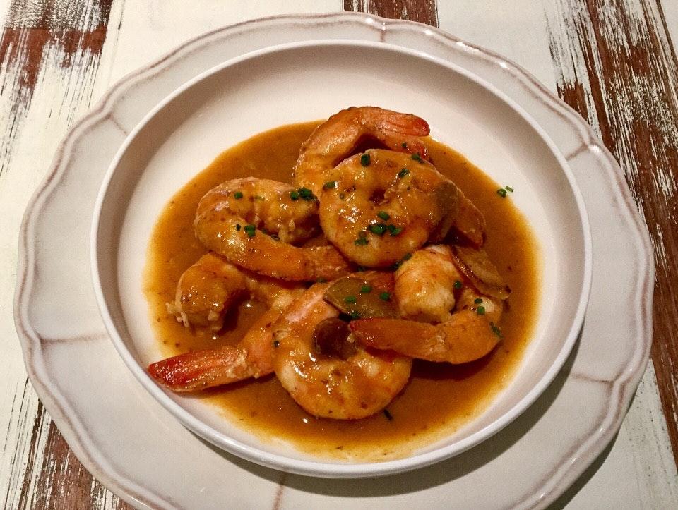 """Shrimp """"all-i-pebre""""  $22.30"""