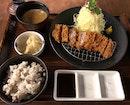 """イベリコ """"ベジョータ""""のロースかつ定食  $36.80"""