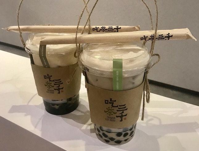 熔岩黑糖波霸鮮奶 $5   凍頂烏龍珍珠奶茶 $4.70