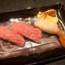本まぐろ大とろ寿司 & ぼたん海老寿司  $15.99/$6.99