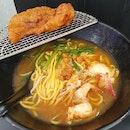 蝦皇豬扒湯麵  $10