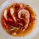 大蝦麵湯  $7.80