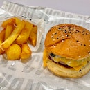 Grilled Beef and Mushroom Burger $24 | Triple Cooked Agria Fries $8.90