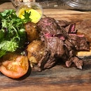 Australian Rusdale Ruby Flap Steak (200g, $22) With Bearnaise Sauce By Campfire