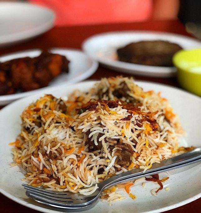 Mutton briyani (regular - $15)  Bismillah biryani is a Michelin bib gourmand establishment which sells biryani that ain't that bad for you.