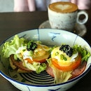 Eggs Benedict (main dish from $12 lunch set - comes with soup/salad, and drink)  Relatively simple dish.