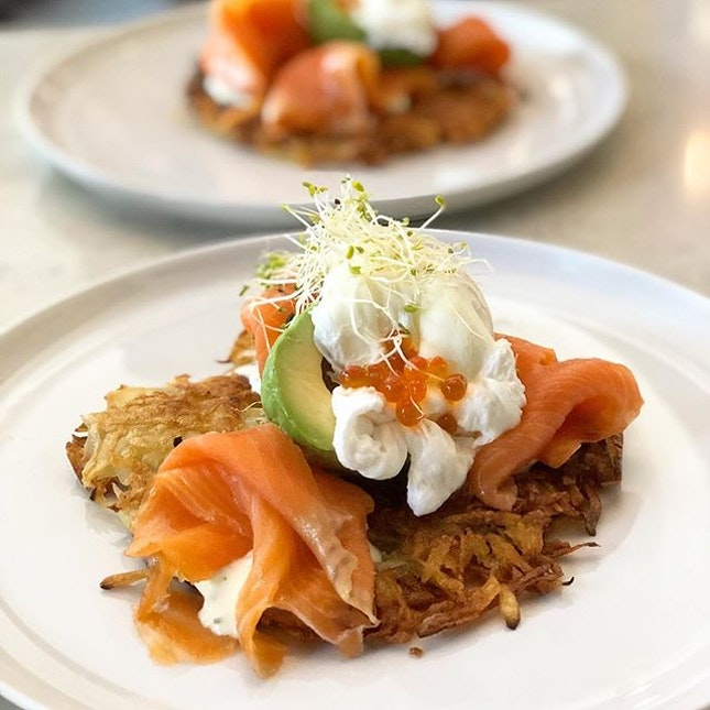Smoked Salmon Rosti ($21)  Never knew there was a quaint cafe with an amazing beach view at Changi civil service club till my friend asked us out for brunch here.