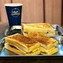 Taiwanese toasties and milk tea.