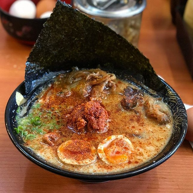 The Summer Tonkotsu Ramen ($17.90 for all toppings) from Keisuke King Four Seasons really embodies what the season is generally known for.