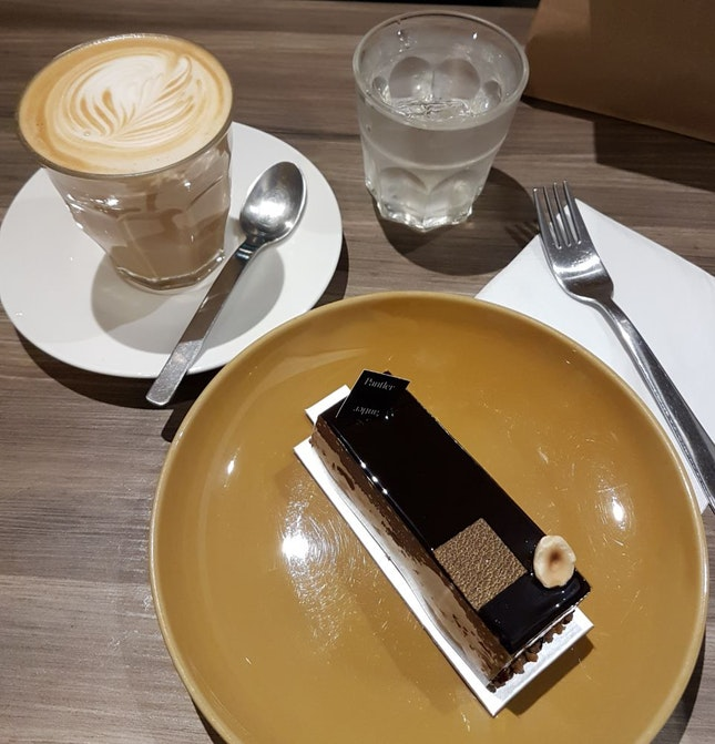 Comforting Latte And Cake