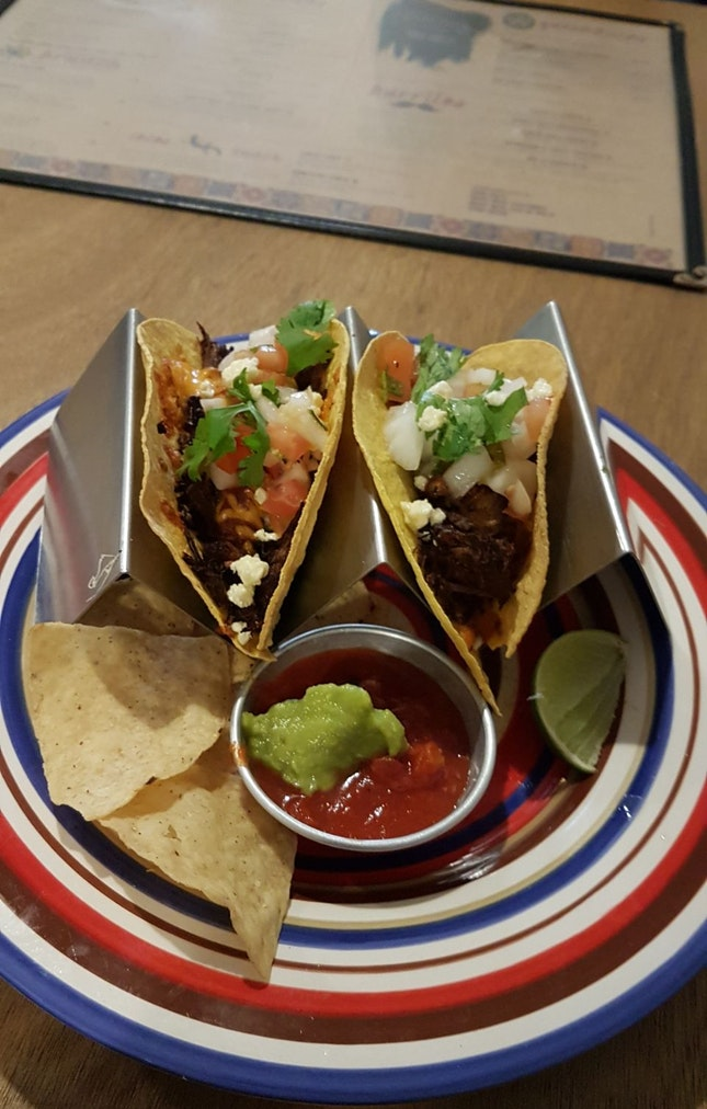 Root Beer Pulled Beef Taco ($17)