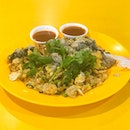 @ Tanglin Oyster Omelette Highlighted as one of the best oyster omelette you can find in Singapore🌝 - 🍽 FUD FOR THE TUMMY • Oyster Omelette ($5)