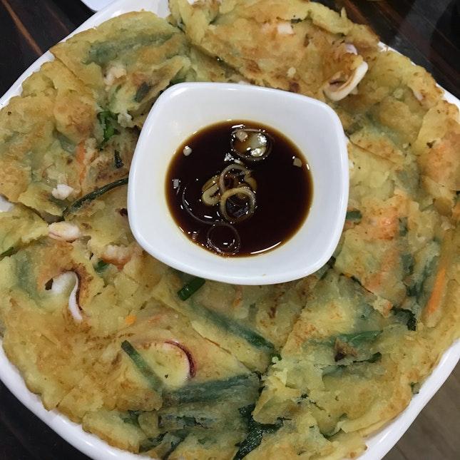Seafood Pancake With Leek