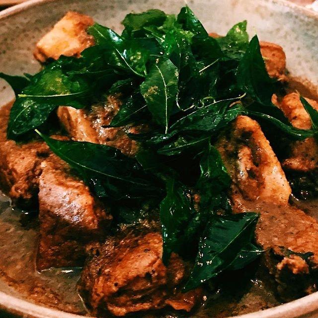 Black pork curry.