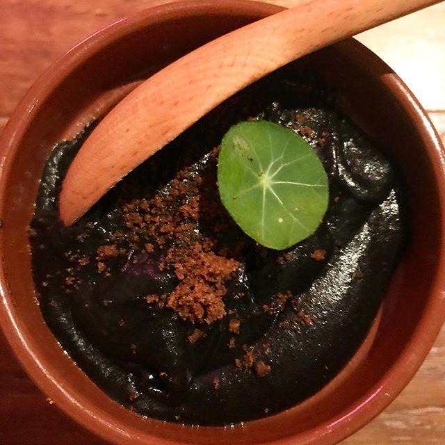 Black mash with squid ink.