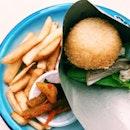 Singapore (Katong) Chicken Rice Burger.